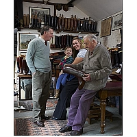 Mr Horace Batten with three generations. taken in 2013  (Mr Batten then 101)
